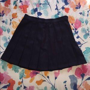 American Apparel Tennis Skirt Navy